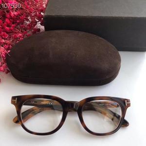 De alta calidad más nueva 46-21-145mm vasos fashionTF5558-B unisex marco para gafas graduadas importados pura-tablón conjunto completo caso freeshipping