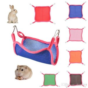 htgar 2019 Home Breathable Mesh Hammocks 6 Colors Squirrel Hammock Summer Outdoor Squirrel Small Mesh Hammock Cute Pet Square DH1062