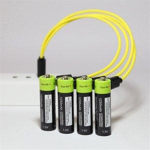 Cable ZNTER AAA 1.5V 400mAh batería recargable de polímero de litio recargable USB universal de la batería Batería con micro USB