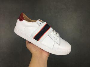 gucci Luxury brand Little bee Glitter diseñador zapatos Web sneaker studs raya mejor calidad famoso bordado para mujer zapatos de plata