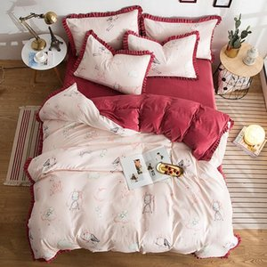 High Quality Bed Comforters Sets Fashion Luxury Cotton Four-piece Bedding Sets With Bed Sheets And Two Pillowcase