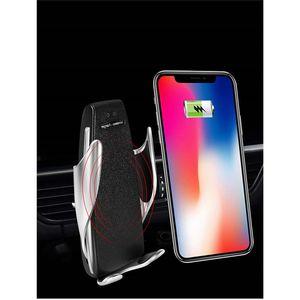 10W 무선 자동차 충전기 S5 자동 클램핑 빠른 아이폰 화웨이 삼성 스마트 폰을위한 자동차에서 전화 홀더 마운트를 충전