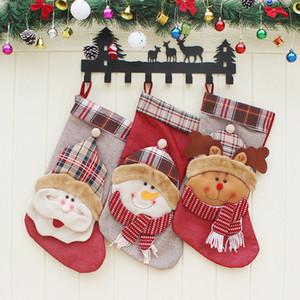 Nouveau Design 46X 23.5cm Nouvel an Noël Chaussettes Père Noël Ornements d'arbres Stocking Hanger Bonbons Cadeau Sac Décorations Enfants