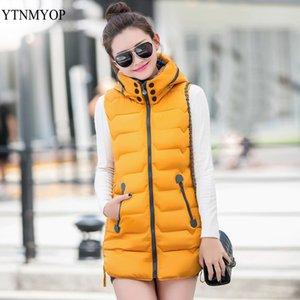 YTNMYOP Bayan Yelek Kış İnce Kapşonlu Kadın Yelek Artı boyutu 3XL Coats Kadınlar Kolsuz ceketler Ve Palto Uzun Yelek Yelek