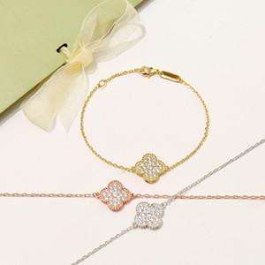 2020 Top ottone qualità braccialetto materiale punk un pc flowersdesign con tutto il diamante per le donne orecchino di gioielli regalo di alta qualità PS8215