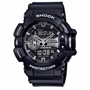 g 패션 남자 스포츠 시계 디지털 쿼 츠 시계 LED 큰 다이얼 50M 방수 듀얼 디스플레이 손목 시계 Relogio Masculino 400