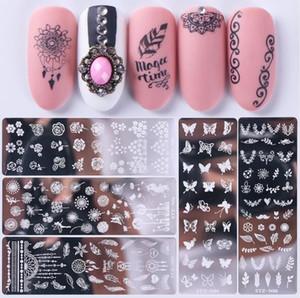 Nail Art Stamp ногтей Stamping шаблона Цветочные Геометрия Животные DIY Nail Designs Маникюр Image Plate Трафарет