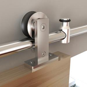 Scorrevole Barn Door Track System Kit bulloneria in acciaio inox di montaggio superiore Rustic scorrevole Barn Door Hardware