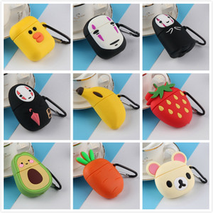 3d Bluetooth Wireless Earphone Case For AirPods 12 Case Silicone Cute Cartoon Protective Cover For Apple Air pods Solutions