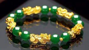 Venta al por mayor Gold Dragon Crystal Bracelet Luxury Designer Bracelets Pixiu Transfer Beads Beaded Bracelet Jewelry for Men Gift