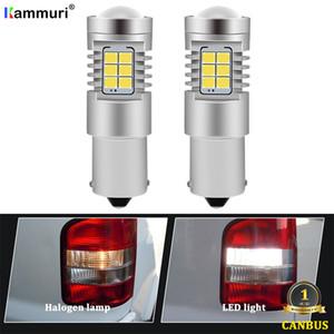 Kammuri 6000K Blanco Ningún error del bulbo 1156 P21W LED para VW T4 T5 T6 T5.1 Transportador de copia de seguridad llevó la lámpara de la luz del revés DRL