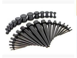 Unisex Acryl Ohr-Stecker-Taper Kit Gauges Expander Stretcher Dehnen Piercing
