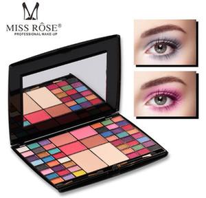Yeni BAKMAK Miss Rose 48 renkler Profesyonel Makyaj sanatçısı Göz farı Paleti Allık Kompakt toz Mat Glitter Fırça Ile