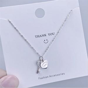 Joyería del encanto del collar de Love Lock romántico y collares pendientes dominantes de plata de ley 925 de circón fina de la mujer para el día de San Valentín