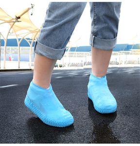 Wasserdichte Stiefel und Schuh-Abdeckung Silikon-Schuhe Protektoren Regen Stiefel Overshoe faltbare Galoschen für Outdoor Rainy Days JK2001