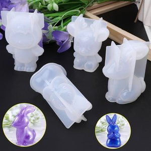 heap Jewelry Tools & Equipments Silicone Mold 3D Animal Cute Rabbit Deer Christmas Gifts DIY Jewelry Pendant Tools Cake Fondant Chocolate...