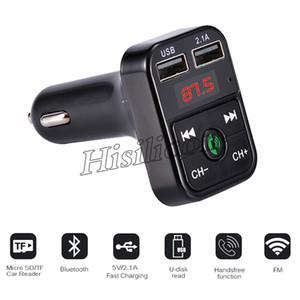 40шт CAR B2 Многофункциональный Bluetooth передатчик 2.1A Dual зарядное устройство USB автомобильное устройство карта TF поддержки Kit FM MP3-плеер автомобиля