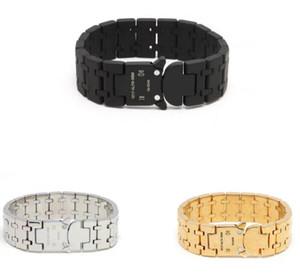 2020 1017 ALYX STUDIO LOGO bracelet du bracelet de chaîne en métal Hommes Femmes Hip Hop Rue de plein air Accessoires Festival de bateau sans cadeau