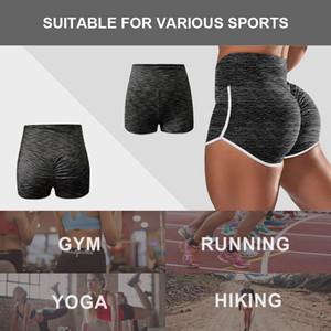 Women Yoga Shorts High Waist Bodycon Running Training Gym Fitness Workout Sports Pants Sportswear