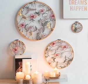 El norte de Europa la mano estiramiento bordado jardín bordado pantalla ornamento de la decoración de la boda del estante del vestíbulo ornamento dormitorio sala de estar