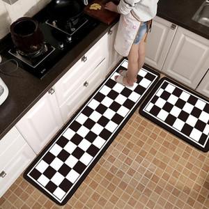 Alfombrilla de cocina creativa geométrica nórdica Alfombra de baño antideslizante Alfombra de entrada antideslizante Lavable Alfombra de puerta Pasillo Área de piso Alfombra