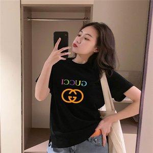 gu̴cci womens designer t shirts Tops Cotton Korean Style Womens T Shirt Basic Clothes Tee Shirt