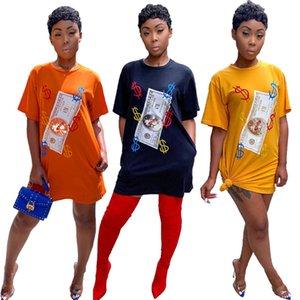 Women mini dresses sexy club summer clothes elegant pencil dresses short sleeve dollar long t-shirt beachwear holiday party dresses 0182