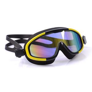 الرجال والنساء مطلي مكافحة الضباب ونظارات السباحة لمكافحة الأشعة فوق البنفسجية السباحة للماء نظارات هلام السيليكا المبهر تصفح نظارات