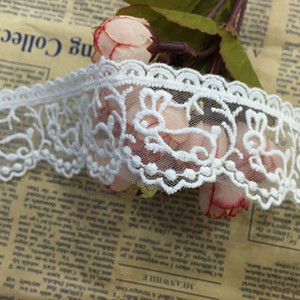 1.5 Inch Lace Ribbon Floral Lace Trim Trimming Elastic Lace for Crafts Rustic Wedding Decorations Hair Bow Making and Gift Wrapping