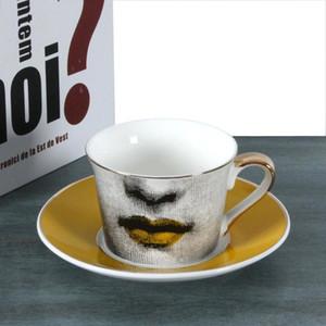 Europäische Teetasse Goldene Kaffeetasse Spitze Golden Dish Louisa Bookface Hochzeit Geburtstag Geschenk Teetasse Home Decoration