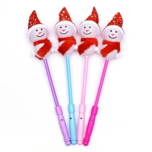 The new luminous snowman stick Christmas flash stick Christmas gift colorful luminous toy manufacturer sells directly
