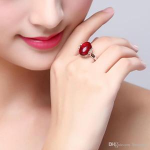 خواتم الزفاف الفرقة الصلبة الزفاف الصين الأحمر زركون العلامة التجارية الكبيرة الحجر الدائري الأحجار الكريمة خواتم