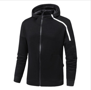 Fleece Pullover Männer Frauen Strickjacke mit Kapuze Hoodies Herbst-Winter-Mantel-Schwarz-Größe L-4XL Design Neue Marke Hoodies