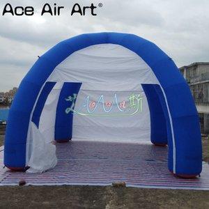 Sur mesure 6 m de diamètre ballon à air tente d'araignée gonflable avec 4 poutres et portes à fermeture éclair / rideaux Marquee dôme pour le commerce extérieur / promotion