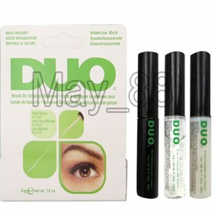 2020 Duo new arrival Eyelash Adhesives Eye Lash Glue brush-on Adhesives vitamins white clear black  5g New Packaging Makeup Tools