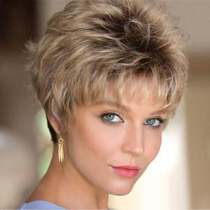 Moderne nouvelle perruque de cheveux Courbe d'onde Bobo Dyed Coiffures Bonne Qualité Durable résistant à la chaleur fibre synthétique pour les femmes