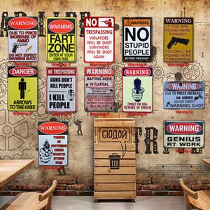 Aviso de Tin Pintura Banheiro Decoração Do Banheiro Cartaz Bar Pub Cafe Aviso Retro Sinal De Metal Casa Restaurante Do Vintage Sinais De Lata BH2209 TQQ