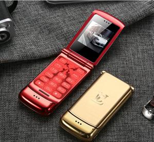 Piegare Band sbloccato Mini vibrazione del cellulare Bluetooth anziano Push-Button Clamshell Cellulare russo America Africa Video Camera Global World