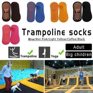 1 par de algodão antiderrapante Trampolim Socks Crianças Adulto inferior Ballet Yoga Meias Outdoor Proteção Pé