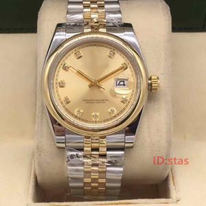 a forma das mulheres de negócio Data de Designer de luxo apenas Diamonds movimento das senhoras automáticas de pulso de aço inoxidável dos homens olha o relógio