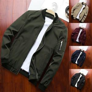 Autunno Moda Uomo solido cappotto Safari degli uomini di stile a maniche lunghe Slim Fit Cargo cappotto del rivestimento delle parti superiori Outwear soprabito