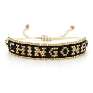 Braccialetto di amicizia della nappa a mano Trendy Bead Bracciali Miyuki DB Seed braccialetto Handmade Jewelry Beads lettere Amicizia misura adattabile