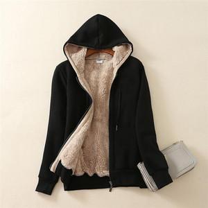 New Women's Basic Jacket Femme Casual Winter Warm Sherpa Lined Zip Up Sweatshirt Jacket Coat Windbreaker Bomber Femme 2019