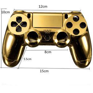 Krom Kaplama Konut Shell Parçaları Vaka İçin PS4 Kontrolörü DualShock 4 - Altın