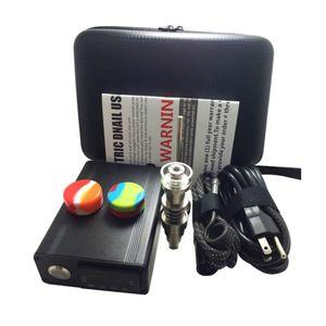 Enail de titanio uñas DAB eléctrico de temperatura PID Controller E casilla de uñas kit de cera Dnail pipa vaporizador 10mm 16MM 20MM plataforma petrolífera vidrio dabber