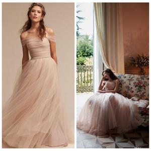 Элегантные дешевые свадебные платья с плеча Cap рукавом тюль розовый свадебное платье развертки поезд бисером талии нетрадиционные свадебные платья