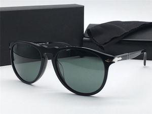 Модные дизайнерские солнцезащитные очки 9649 classic retro aviator frame glass lens UV400 защитные очки с кожаным чехлом vintage retro style