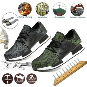 Men's Steel Toe Work Safety Shoes Casual Breathable Outdoor Sneakers Puncture Proof Anti-smashing Boots Industrial Shoes Men D25