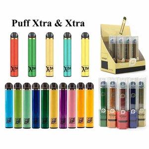 Mais recente 5,0ml PUFF XTRA XTRA descartável Vape caneta pré-cheia bares, além de dispositivos do sistema vaporizadores Pods Vapor Posh Além disso Cartuchos Starter Kit
