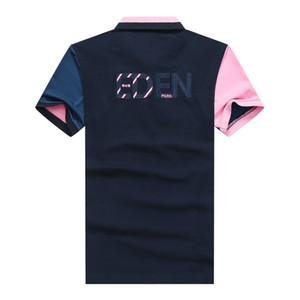 Park Eden polos 2020 dos homens do desenhista camisas de luxo Shirts Masculino Verão Turn Down Collar manga curta camisa de algodão Men Casual Polo cobre T